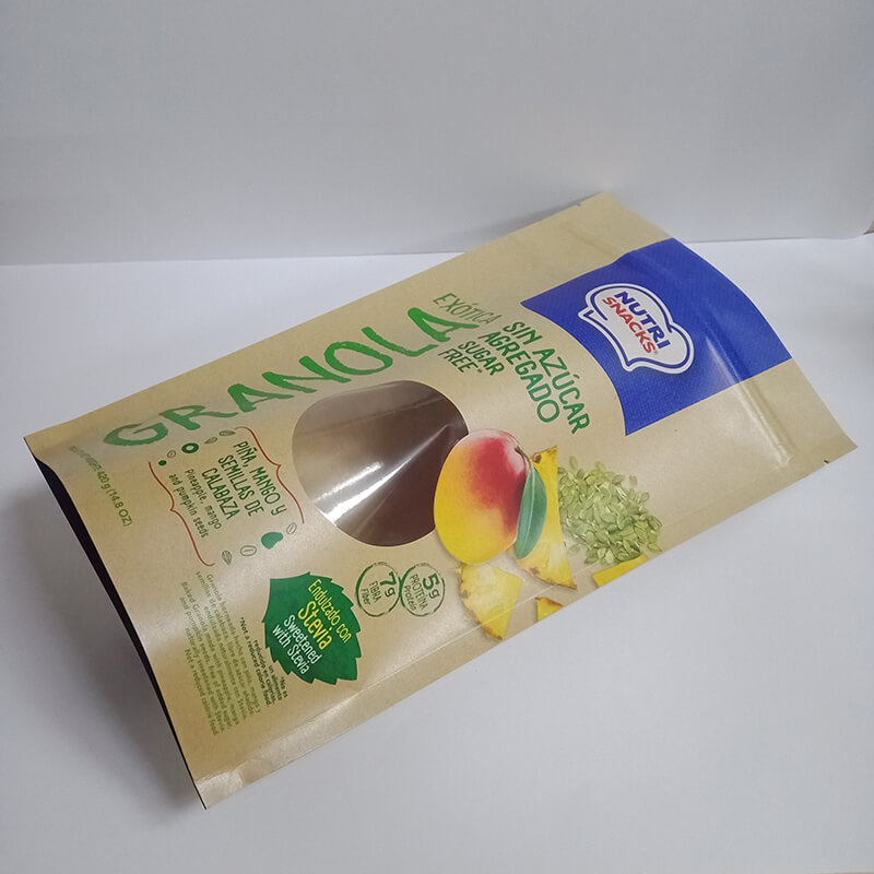 Recycle stand up dried fruit package bag with transparent round window  (5)