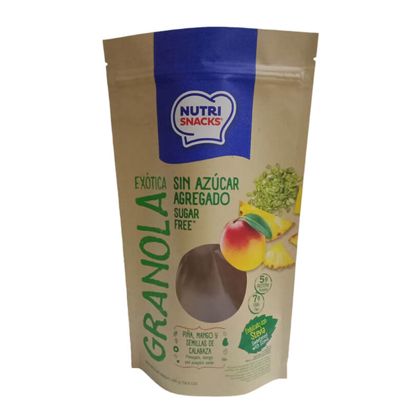 1.Biodegradable PLA and brown kraft paper packaging bags with easy zipper (1)