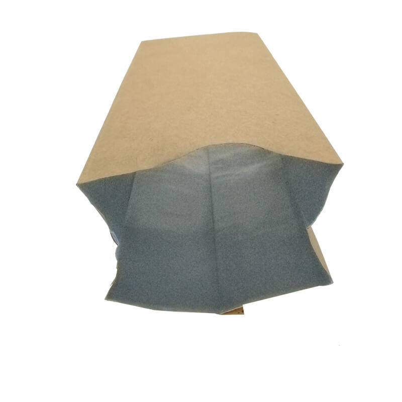 1.Biodegradable PLA and yellow kraft paper back sealed packaging bags (1)