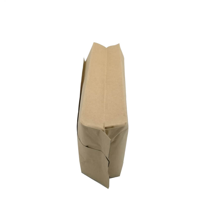 1.Biodegradable PLA and yellow kraft paper back sealed packaging bags (2)