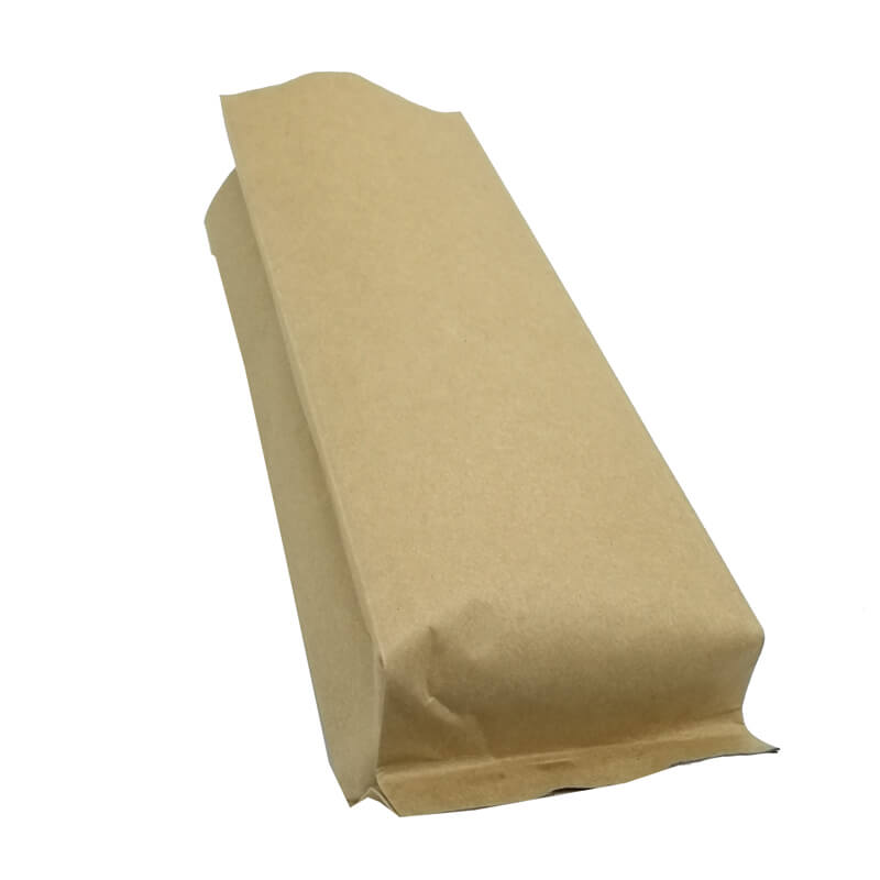 1.Biodegradable PLA and yellow kraft paper back sealed packaging bags (3)