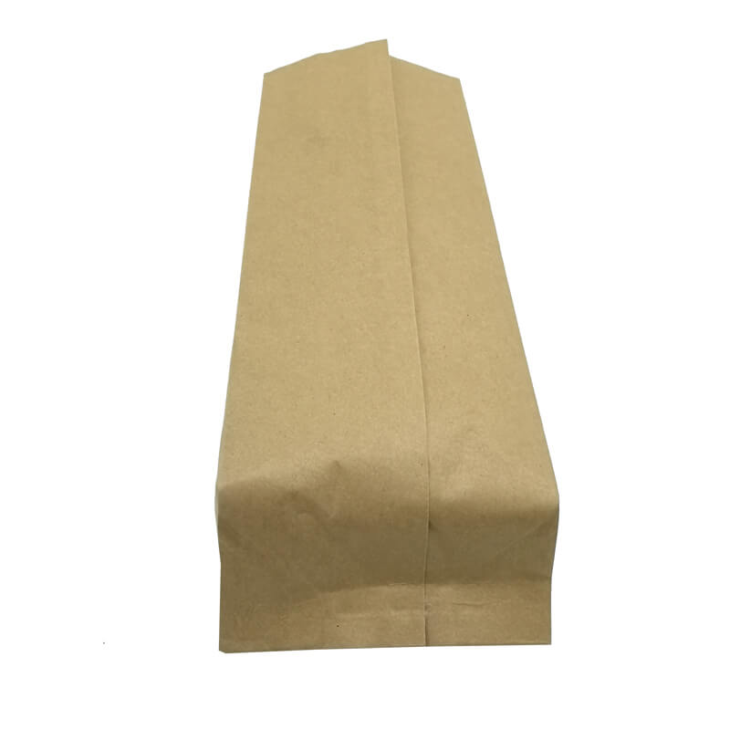 1.Biodegradable PLA and yellow kraft paper back sealed packaging bags (4)