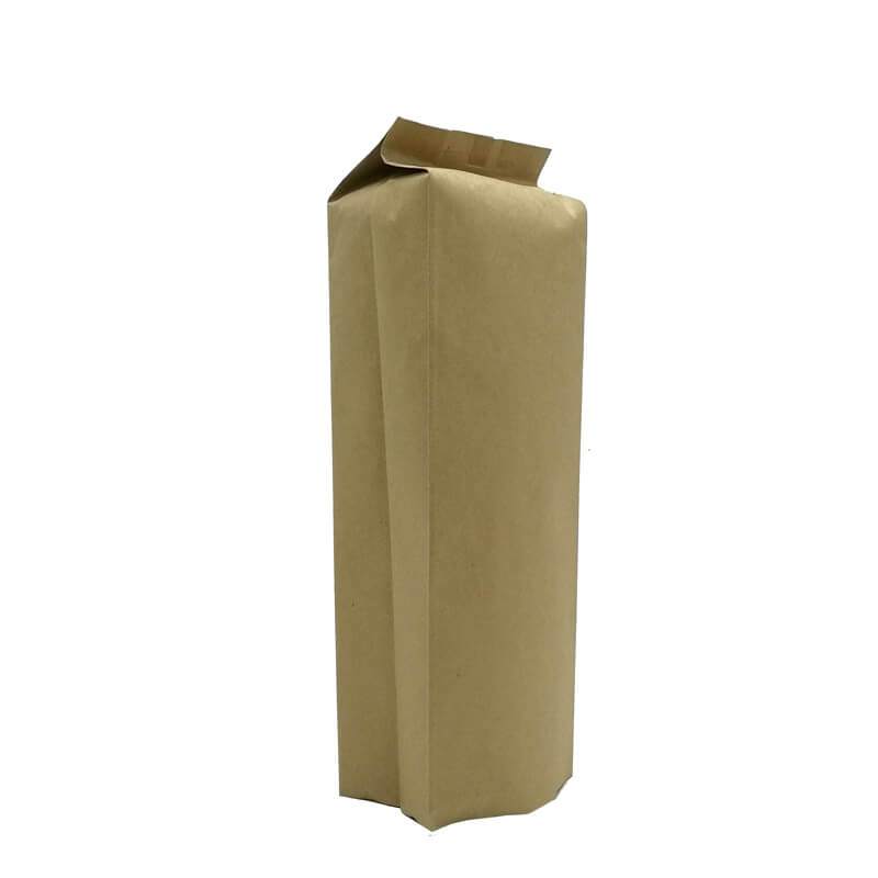 1.Biodegradable PLA and yellow kraft paper back sealed packaging bags (5)