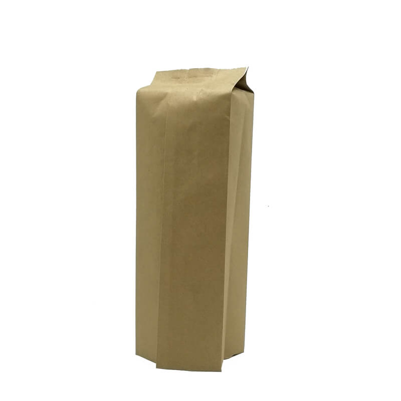 1.Biodegradable PLA and yellow kraft paper back sealed packaging bags (6)