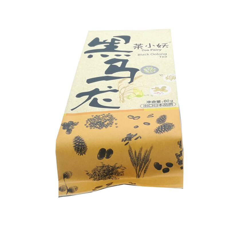 10.Personalized back sealed yellow Kraft paper and PLA packaging bags for nuts (1)