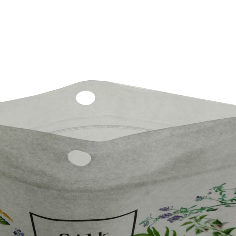 13.White kraft paper and PLA dried food packaging bags with easy zipper (5)