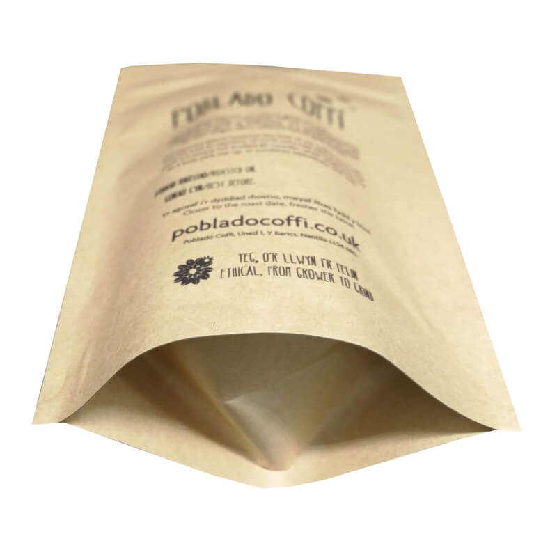 14.ECO friendly packaging kraft paper bags for tea leaves with easy zipper (1)