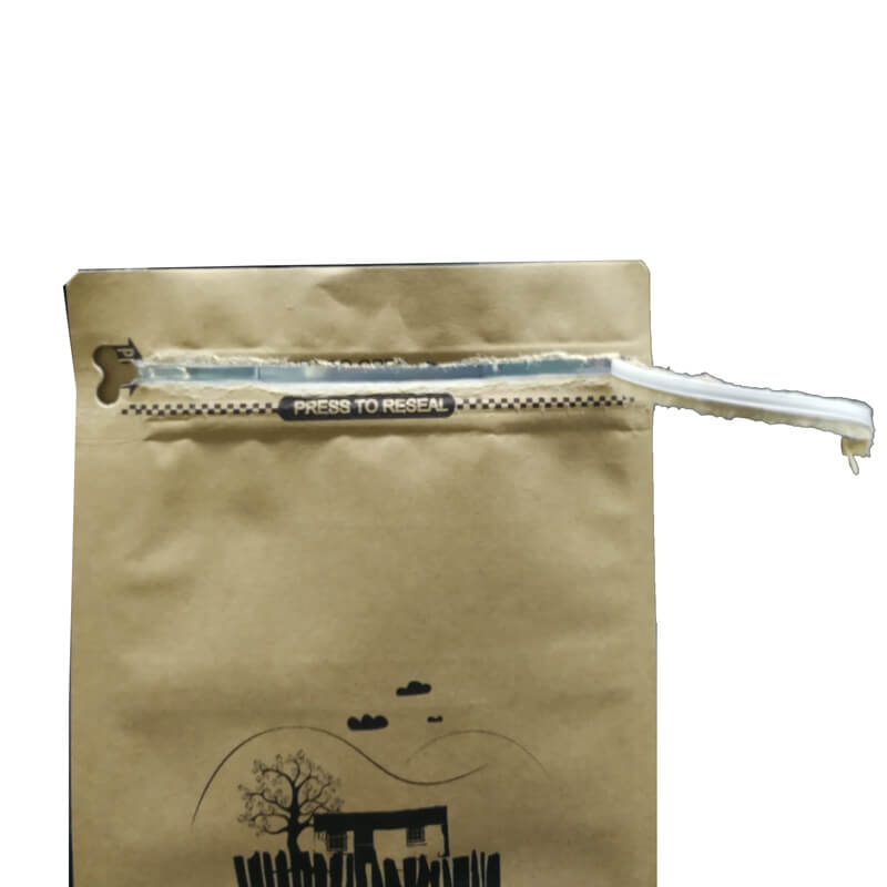 14.ECO friendly packaging kraft paper bags for tea leaves with easy zipper (2)