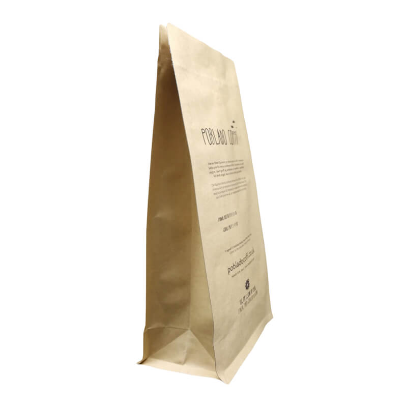 14.ECO friendly packaging kraft paper bags for tea leaves with easy zipper (4)