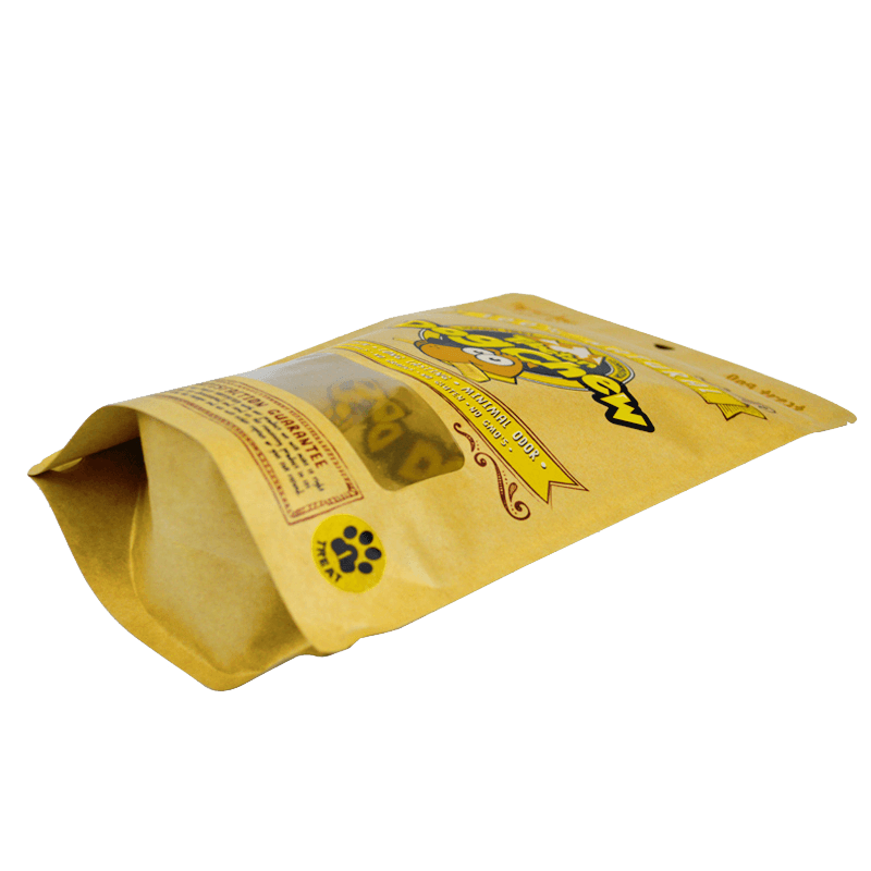 19.ECO friendly packaging kraft paper dog food bags with easy zipper (1)