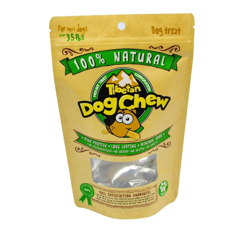 19.ECO friendly packaging kraft paper dog food bags with easy zipper (2)