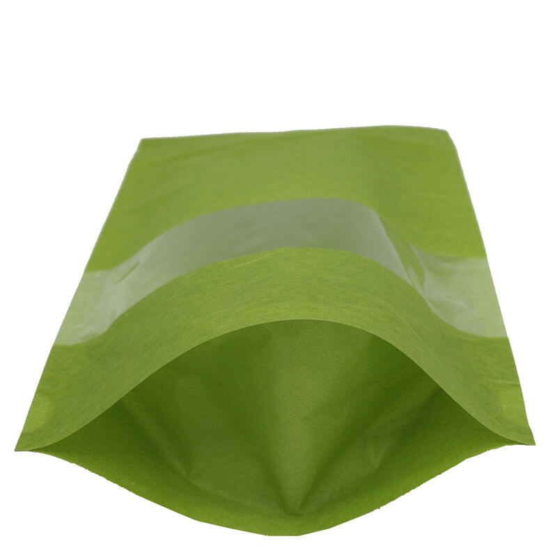 Stand up craft paper rice packaging bags with window (5)