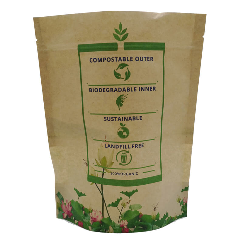 2.ECO friendly stand up packaging kraft paper bags with window and zipper   (7)