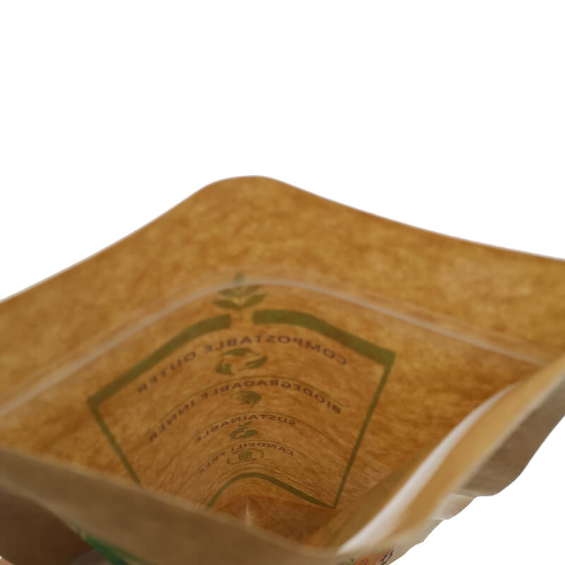 2.ECO friendly stand up packaging kraft paper bags with window and zipper   (8)