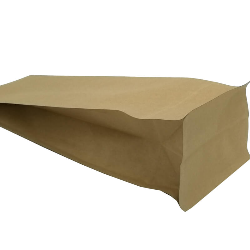 2.ECO friendly yellow kraft paper gusset bags for tea leaves (3)