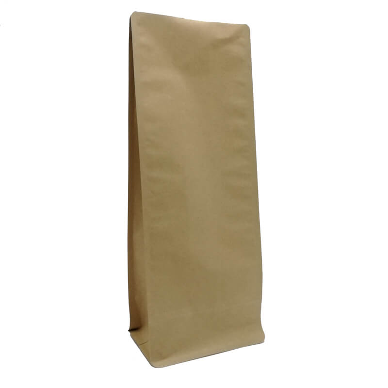 2.ECO friendly yellow kraft paper gusset bags for tea leaves (4)