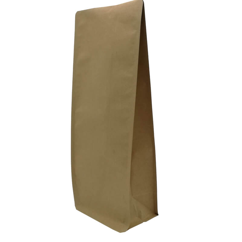 2.ECO friendly yellow kraft paper gusset bags for tea leaves (5)