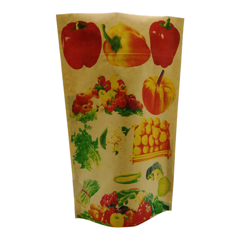 3.Fully biodegradable stand up kraft paper bags  (4)
