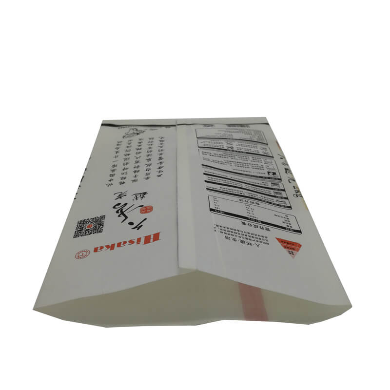 Back sealed rice packaging bags with round window (3)