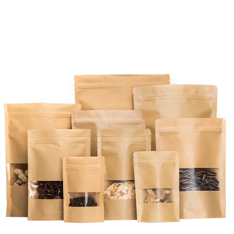 Different size kraft paper sandwich packaging bag (4)