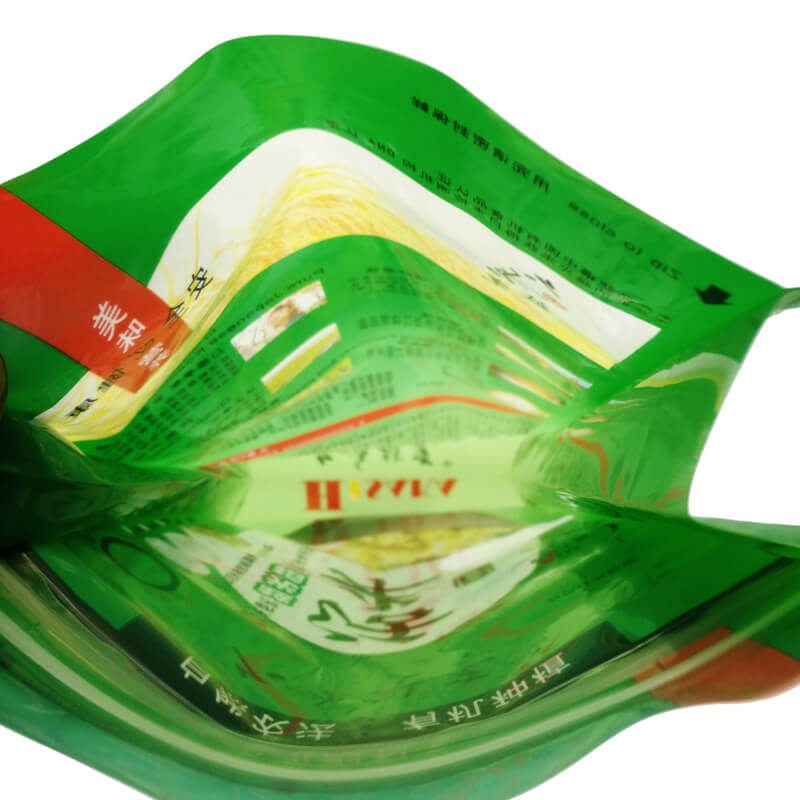 4.Fully biodegradable PLA gusset bags for rice packing (6)