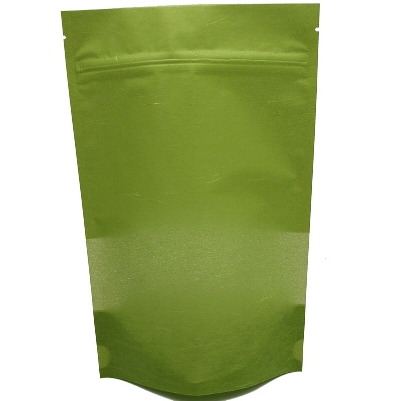 Stand up craft paper rice packaging bags with window (2)