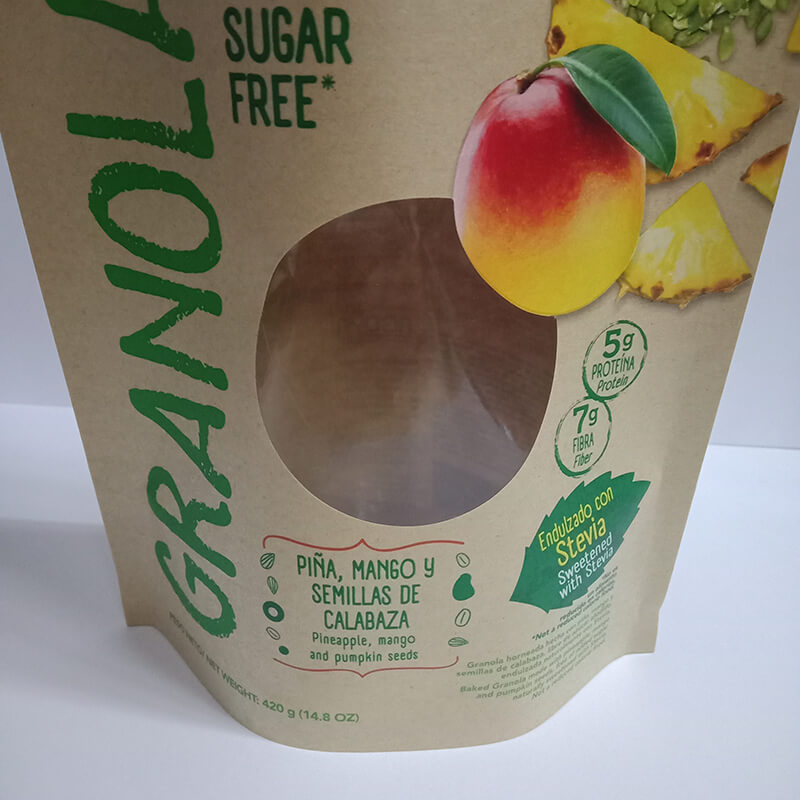 Recycle stand up dried fruit package bag with transparent round window  (3)
