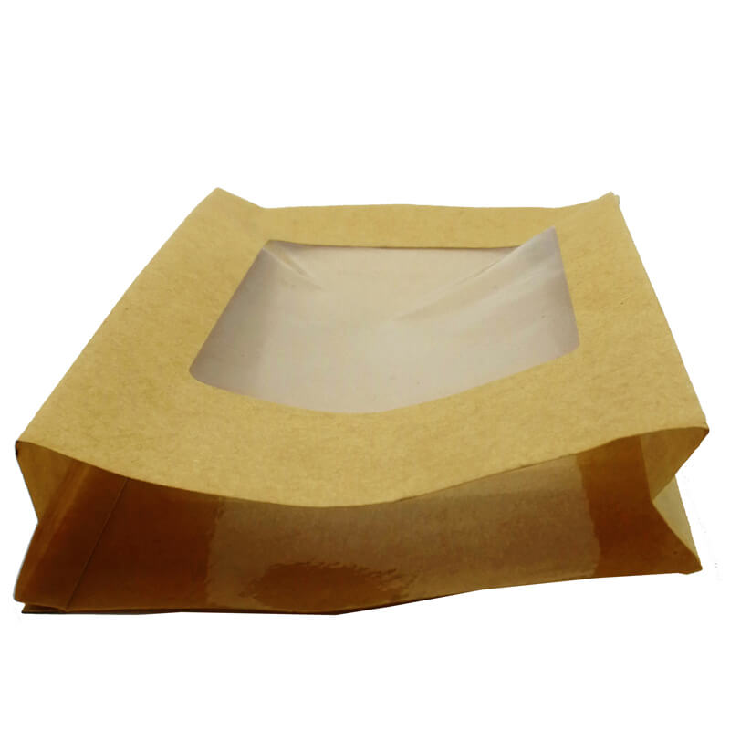 Biodegradable PLA packaging bags for health food with clean window  (3)