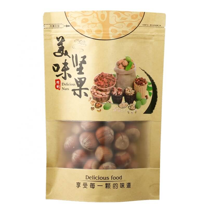 6.Fully biodegradable PLA nuts packaging bags with easy zipper (2)