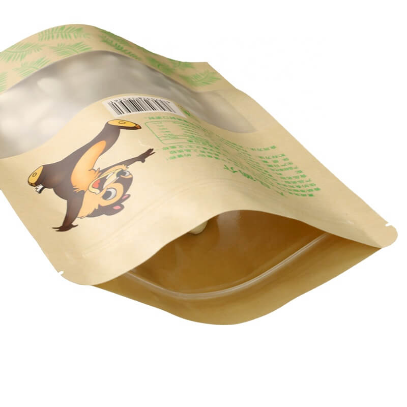6.Fully biodegradable PLA nuts packaging bags with easy zipper (5)