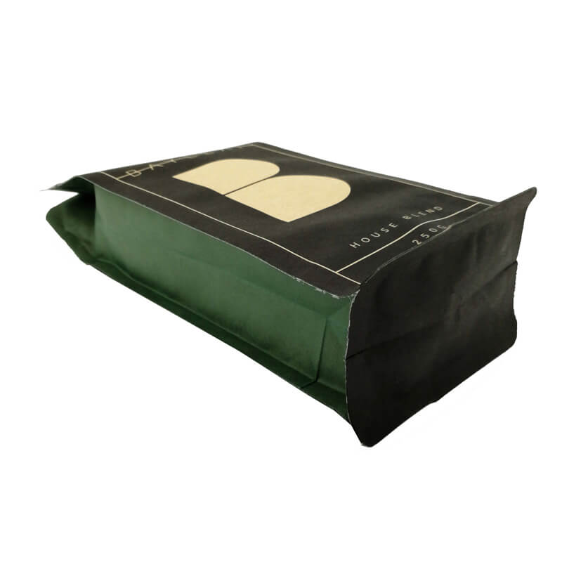 6.PLA and kraft paper gusset bags with easy zipper and air valve (3)