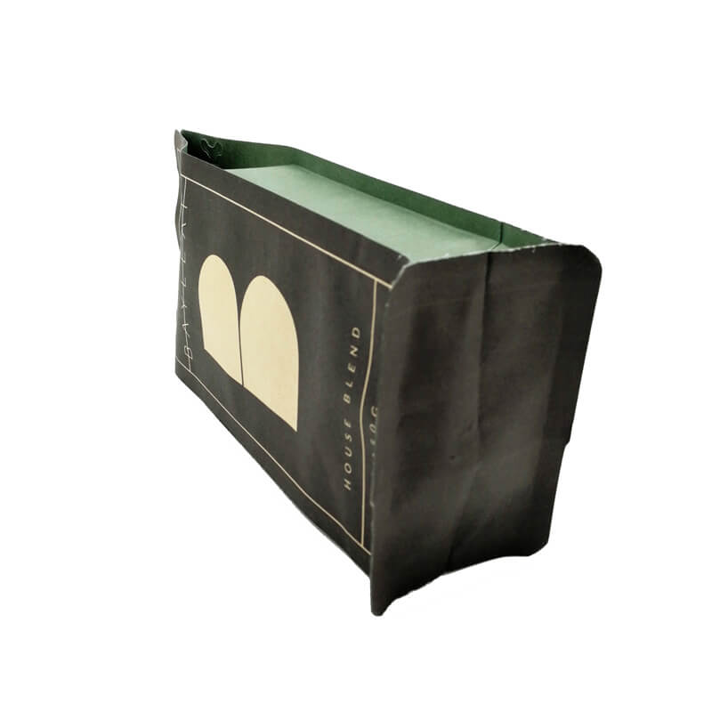 6.PLA and kraft paper gusset bags with easy zipper and air valve (4)