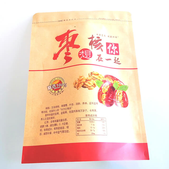 8.Fully degradable health food packaging bags with easy zipper and transparent window (1)