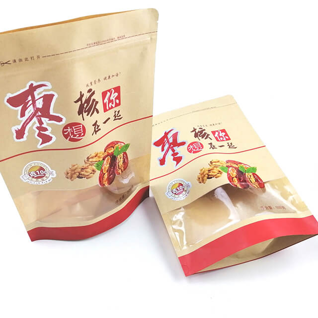 8.Fully degradable health food packaging bags with easy zipper and transparent window (4)