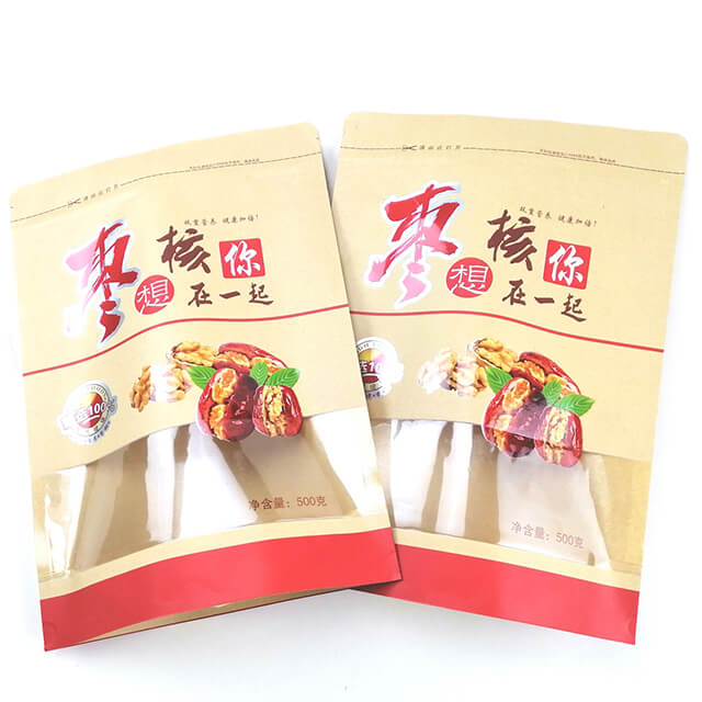 8.Fully degradable health food packaging bags with easy zipper and transparent window (5)