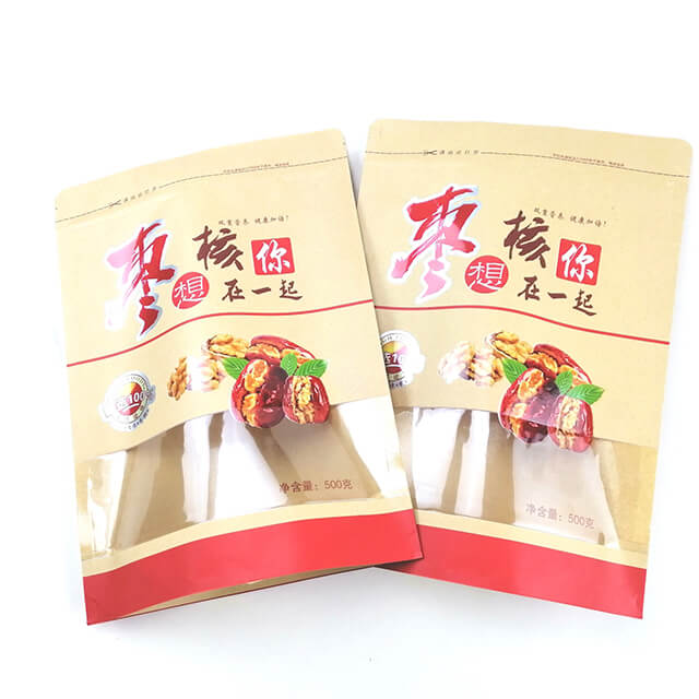 8.Fully degradable health food packaging bags with easy zipper and transparent window (6)