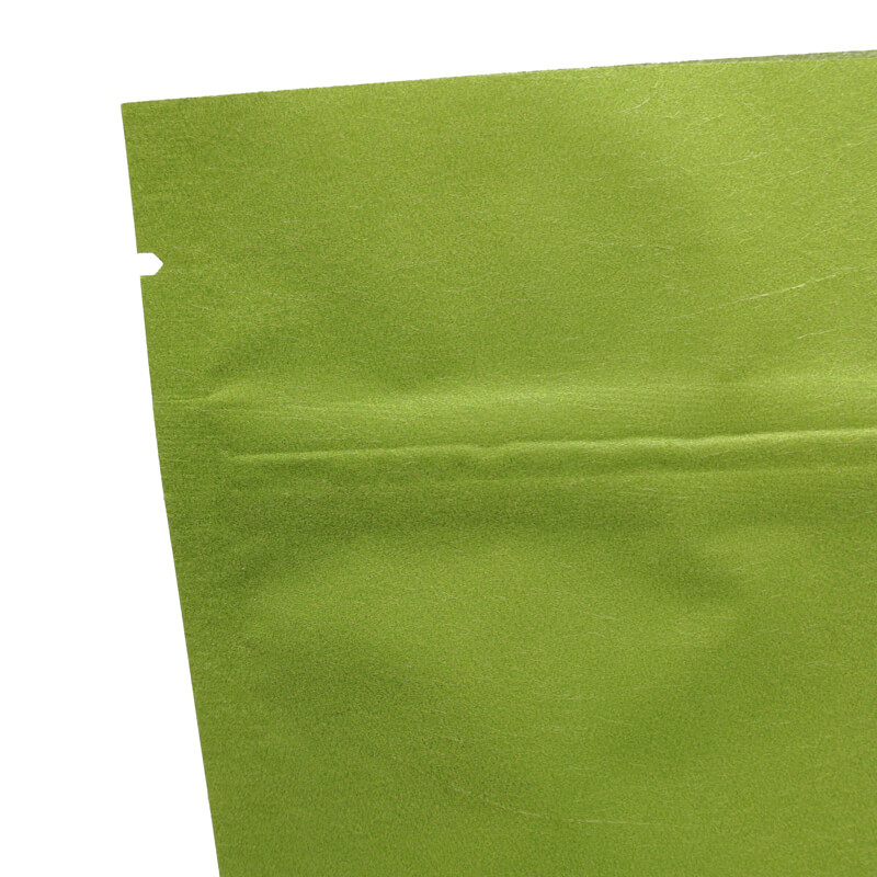 Stand up craft paper rice packaging bags with window (7)