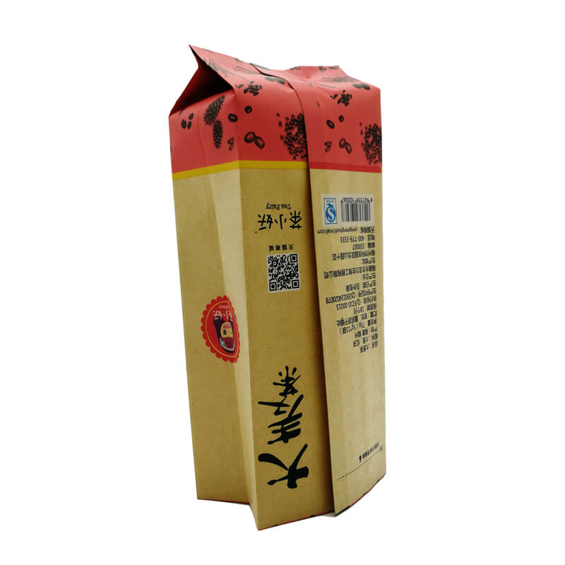 9.Creative yellow kraft paper and PLA back sealed packaging bags for nuts packing (4)