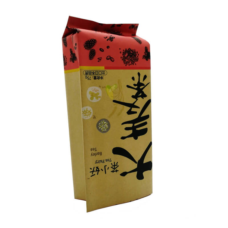 9.Creative yellow kraft paper and PLA back sealed packaging bags for nuts packing (5)