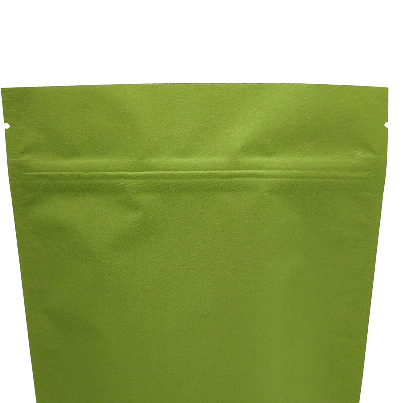 Stand up craft paper rice packaging bags with window (6)