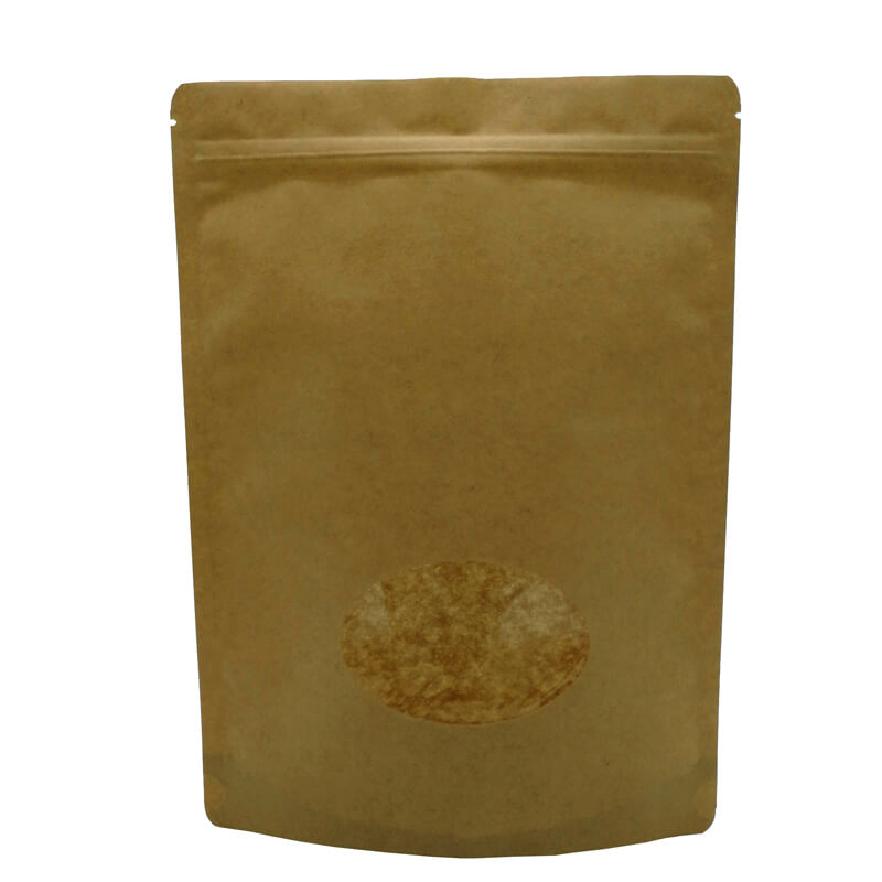 Brown craft paper French fries packaging bags without any printing  (5)
