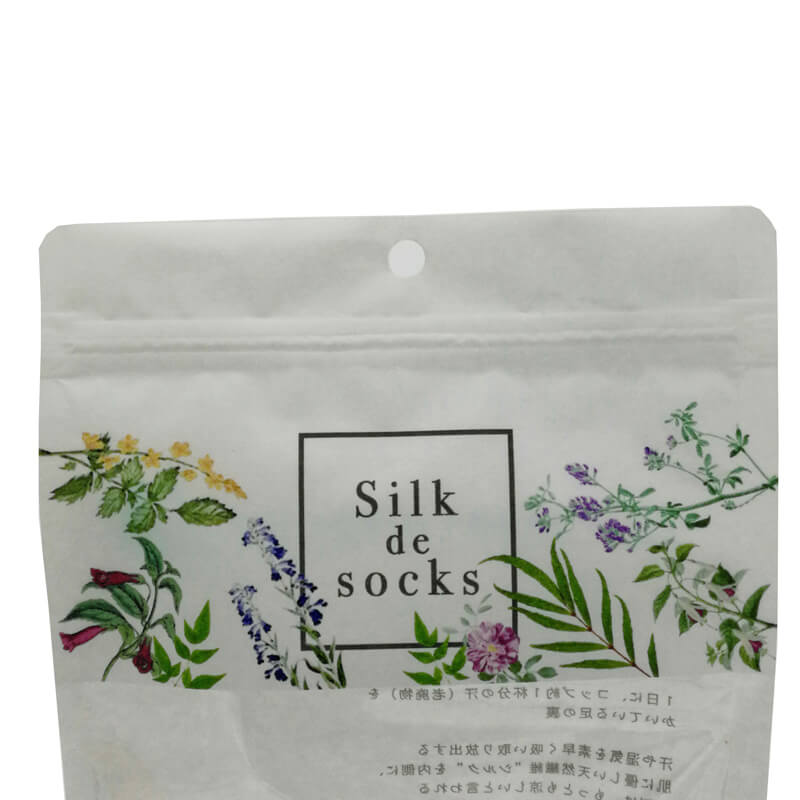Color printed biodegradable PLA and white kraft paper stand up packaging bags (4)