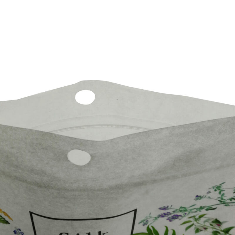Color printed biodegradable PLA and white kraft paper stand up packaging bags (5)