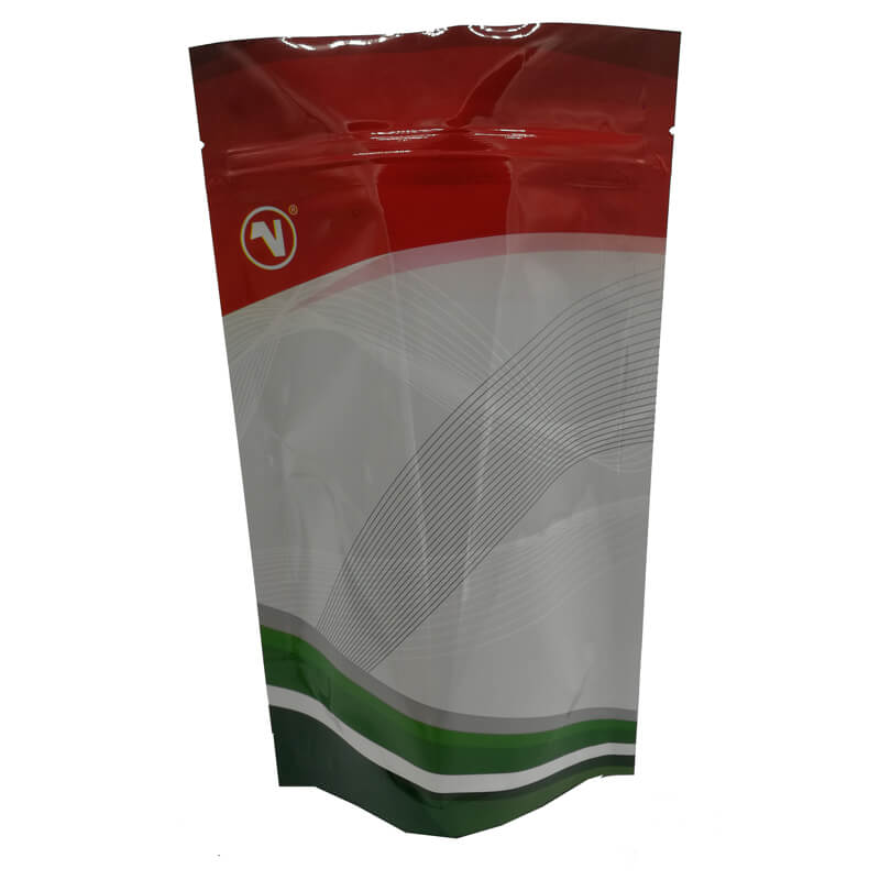 Color printed stand up aluminum foil packaging bags for coffee powder (1)