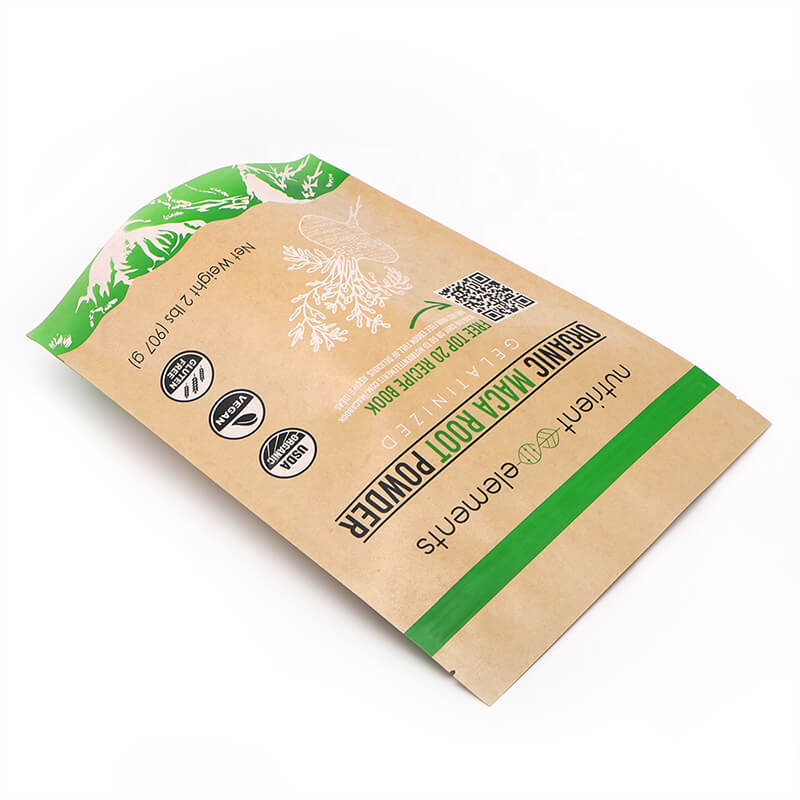 Biodegradable Brown craft paper dried fruit packing bags with recycle zipper   (2)