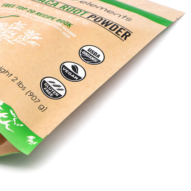 Biodegradable Brown craft paper dried fruit packing bags with recycle zipper   (4)