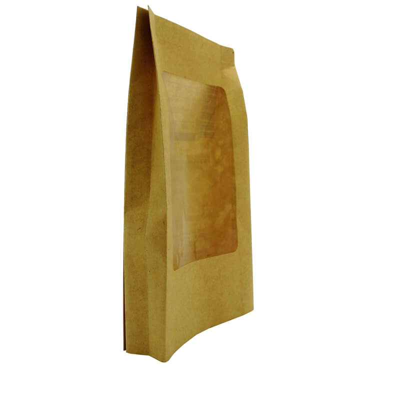 Biodegradable PLA packaging bags for health food with clean window  (6)
