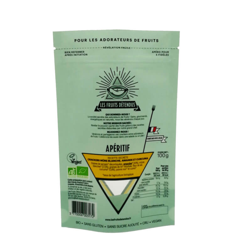 PLA stand up nut package pouches with triangle window design (4)