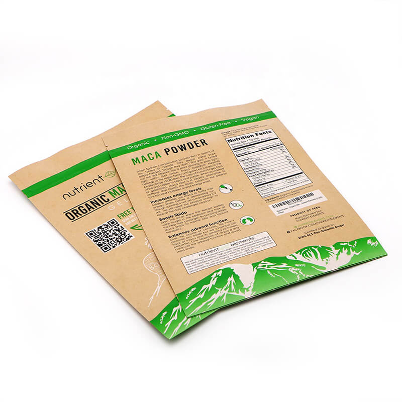 Biodegradable Brown craft paper dried fruit packing bags with recycle zipper   (1)