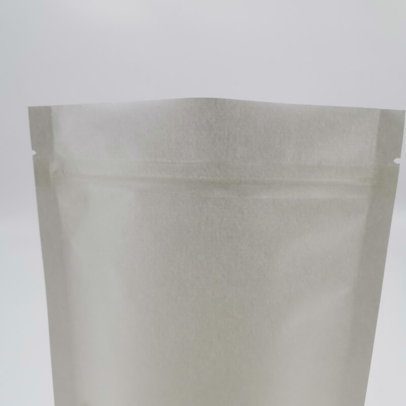Stand up white craft paper rice packaging bags with window (5)